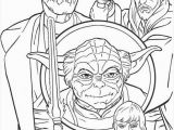 Star Wars Coloring Pages Printable Yoda Jedi Knights and Yoda Coloring Page