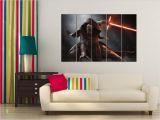 Star Wars Full Wall Murals Star Wars the force Awakens Kylon Ren Wall Art Canvas Poster Besthomedesign