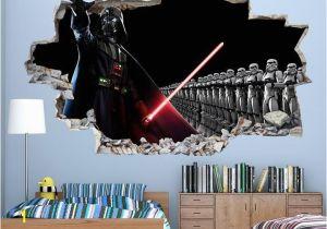 Star Wars Photo Wall Mural Cool Star Wars Boys Bedroom Decal Vinyl Wall Sticker Q046