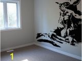 Star Wars Room Murals Yoda Star Wars Wall Decal Art Stencil From Respectprinting On