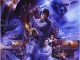 Star Wars Saga Wall Mural Fan Art Brilliant Collection original Star Wars Artwork