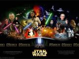Star Wars Saga Wall Mural Star Wars
