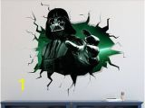 Star Wars Wall Mural Art Decal Darth Vader Star Wars Wall Decal 3d Kids Sticker Art Decor