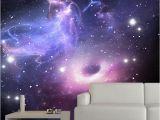 Starry Night Sky Murals 3d Wallpaper Modern Simple Starry Sky Space Mural Restaurant