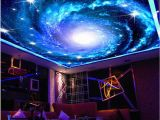 Starry Night Sky Murals Starry Sky Galaxy Full Wall Ceiling Mural Wallpaper Print Home