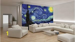 Starry Night Wall Mural Van Gogh Starry Night Wallpaper Mural