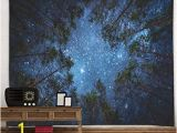 Starry Night Wall Mural Yi Curtain Tapestry Starry Night forest Starry Tapestry Wall Hanging 3d Printing forest Tapestry Galaxy Tapestry Starry Sky Tapestry for Dorm Living