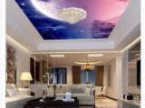 Starry Sky Wall Mural 3d Ceiling Custom Zenith Mural Wallpaper Fantasy Night Sky Meteor Hotel Lobby Living Room Ceiling Zenith Mural Wall Sticker Wallpapers