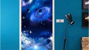 Starry Sky Wall Mural Amazon Pbldb Pvc Wallpaper Modern Universe Starry Sky