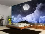 Starry Sky Wall Mural Details About Night Sky Moon Clouds Dark Stars Wall Mural