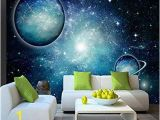 Starry Sky Wall Mural Wapel 3 D Wall Paper Household to Decorate the 3d Living