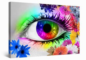 Startonight 3d Mural Wall Art Startonight Wall Art Canvas the Colors Of Eye Iii by Diana Abstract Framed 24 X 36 Inches