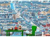 Startonight Mural Wall Art Mural Wall Art Decor Cartoon City 100 X 144 Inches
