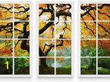 Startonight Mural Wall Art Startonight Canvas Wall Art Maple at Window Nature Framed