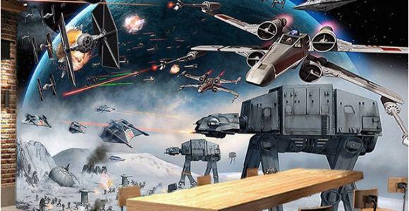 Starwars Mural Nach 3d Foto Tapete Wandbild Star Wars Große Wandbilder Wand Malerei