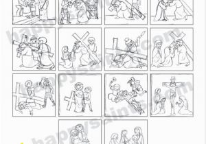 Stations Of the Cross Coloring Pages Pdf Happy Saints January 2013