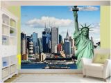 Statue Of Liberty Wall Mural Behang Gereedschap Access New York Cityscape Black and
