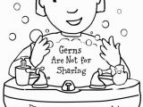 Staying Healthy Coloring Pages Free Printable Coloring Page to Teach Kids About Hygiene Germs are