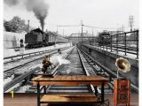 Steam Train Wall Mural Custom 3d Wall Murals Wallpaper 3d Wallpaper Murals Huge Old Train Steam Industry Revolution Nostalgia Old Background Wall Wallpapers for
