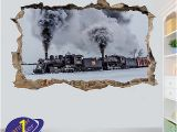 Steam Train Wall Mural Dekoration Vintage Retro Steam Train Lo Otive Wall Art
