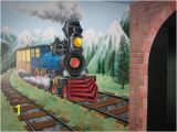 Steam Train Wall Mural so Cool for A Kids Bedroom Wall