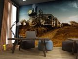 Steam Train Wall Mural Steam Train Wall Mural Peel & Stick Wall Fabric Material