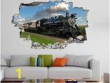Steam Train Wall Mural Vintage Retro Steam Train Lo Otive Wall Sticker Mural