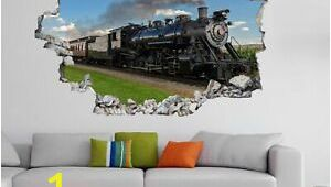 Steam Train Wall Mural Vintage Retro Steam Train Lo Otive Wall Sticker Mural