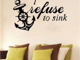 Stick On Murals for Walls Boat Anchor Diy Sticker Waterproof Vinyl Wallpaper Home Decor for