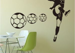 Stick On Murals for Walls Uk Football Sports Wall Stickers Wallpapers Waterproof Pvc Wall Decals Murals Can Be Removable Self Adhesive Boy Bedroom Background Decoration Uk 2019
