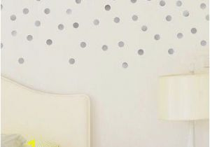 Stick On Murals for Walls Uk Silver Dot Wall Decals Metallic Silver Polka Dots Wall