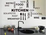 Stick On Murals for Walls Uk Wallpark Black English Words Knife fork Home Kitchen