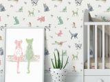Stick On Wall Murals for Nursery Cat Wallpaper Removable Wall Paper Nursery Wallpaper Peel