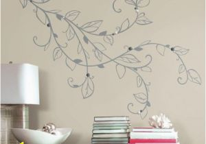 Stick On Wall Murals Silver Leaf Giant Peel and Stick Wall Decals with Pearls Wall Decal