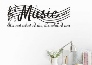 Stick On Wall Murals Staff Music Note Vinyl Wall Decal Quote Diy Art Mural Removable Wall