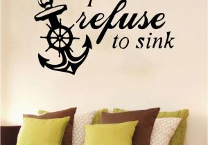 Stickers Mural Boat Anchor Diy Sticker Waterproof Vinyl Wallpaper Home Decor for