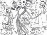 Stitch Christmas Coloring Pages the Nightmare before Christmas Coloring Page
