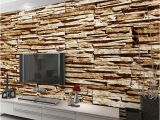 Stone Effect Wall Murals Home Decor Wall Papers 3d Stone Brick Wallpaper Custom Wall