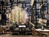 Stone Effect Wall Murals Retro Nostalgia Stone Wallpaper Brick Wall Murals Living Room