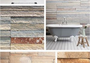 Stone Mural Designs Create A Rustic Inspired Bathroom with Stone Wallpaper Designs and