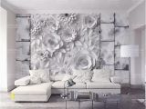 Stone Mural Wall Decor Custom 3d Mural Wallpaper Stone Brick Wall origami Flowers Tv Background Wall Living Room Bedroom Home Improvement Wallpaper Desktop Wallpapers and