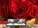 Stone Roses Wall Mural Custom Any Size 3d Wall Painting Wallpaper Murals Romantic Red Rose