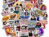 Stranger Things Wall Mural Amazon 50pcs Pack Stranger Things Laptop Stickers