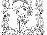 Strawberry Shortcake Cartoon Coloring Pages 24 Best Graphy Little Girl Coloring Sheet