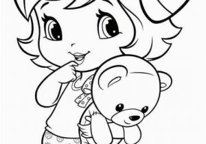 Strawberry Shortcake Doll Coloring Pages Coloring Pages Little Girl