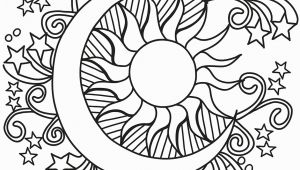 Sun and Moon Coloring Pages for Adults Pop Art Sun Moon and Stars Coloring Page