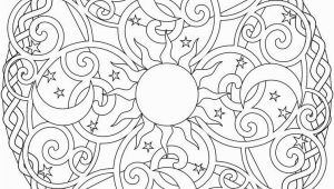 Sun Moon Stars Coloring Page Celestial Mandala Box Card and Coloring Page