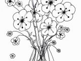 Sunflower Printable Coloring Pages Printable Cool Vases Flower Vase Coloring Page Pages Flowers In A