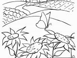 Sunset Coloring Pages Coloring Pages Sunsets Farm Scenes Coloring Page Kids Coloring