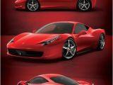 Super Car Wall Mural Ferrari 458 Italia My Car & Wishes